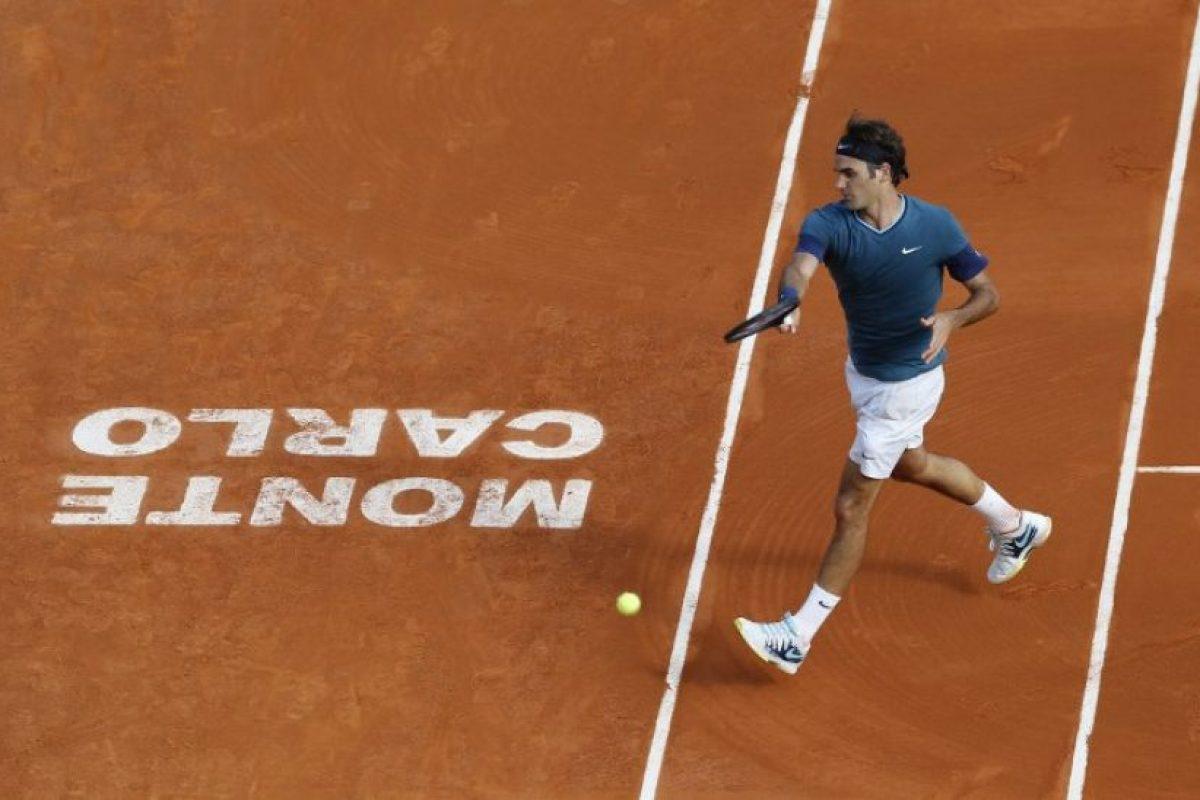 Roger Federer en Montecarlo. Foto:AFP. Imagen Por: