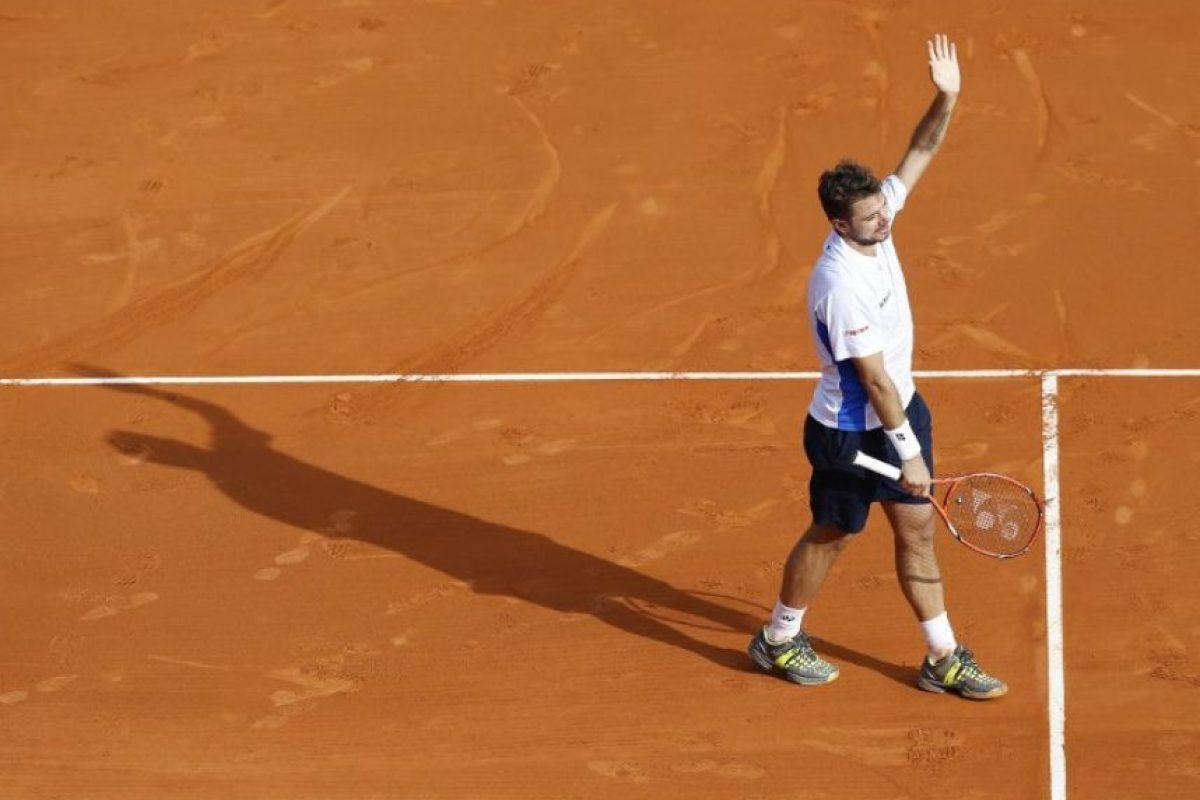 Stanislas Wawrinka agradeciendo al público. Foto:AFP. Imagen Por: