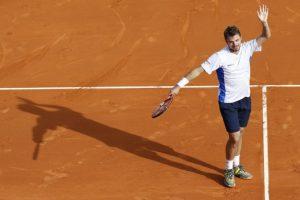 Stanislas al final del tercer set. Foto:AFP. Imagen Por: