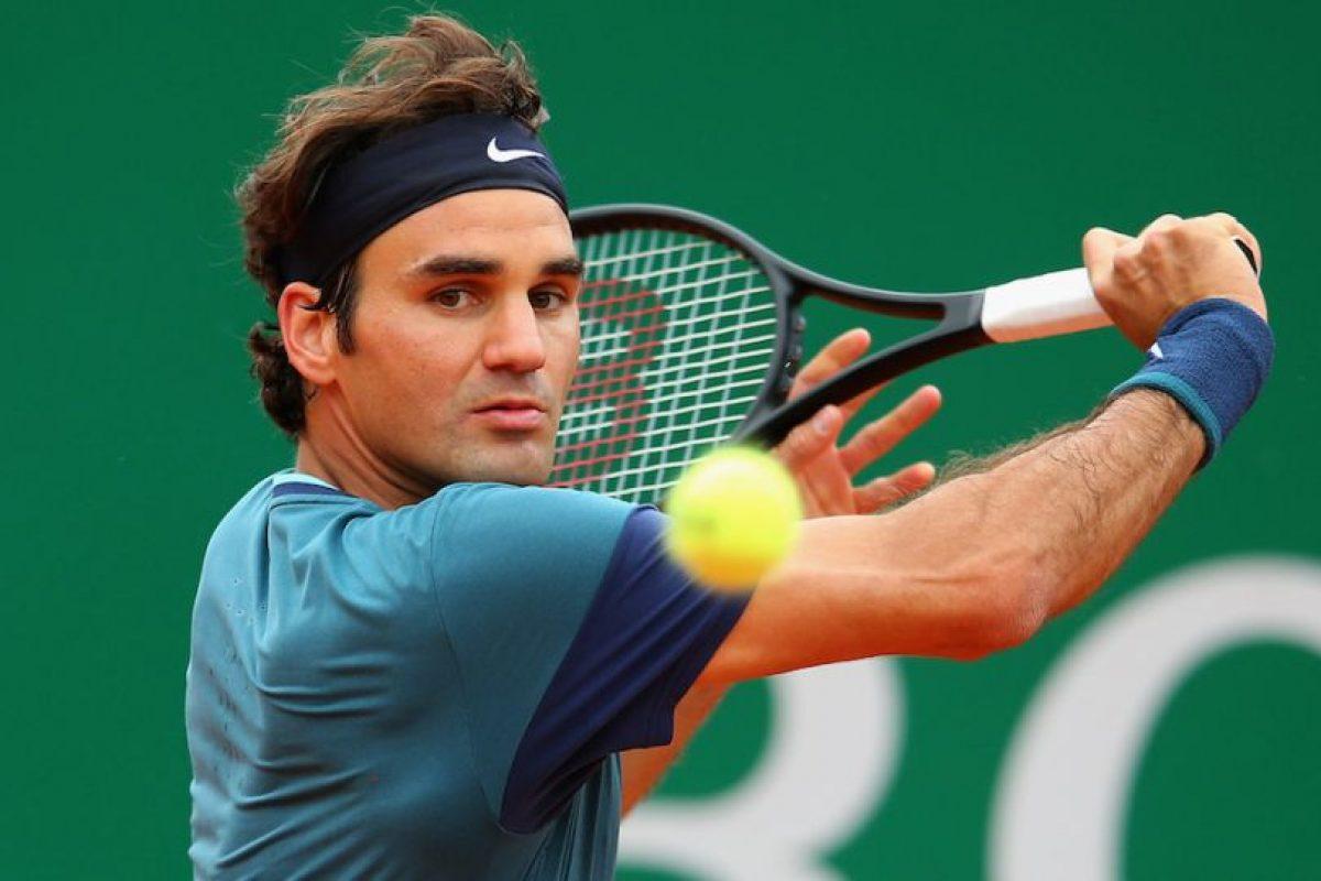 Roger viendo la pelota. Foto:getty images. Imagen Por: