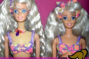 De todas las Barbies que hubo en los 80 y 90 esta fue muy vendida, ya que venía con una loción escarchada que olía delicioso. Salió en 1992. Foto: Flickriver. Imagen Por: