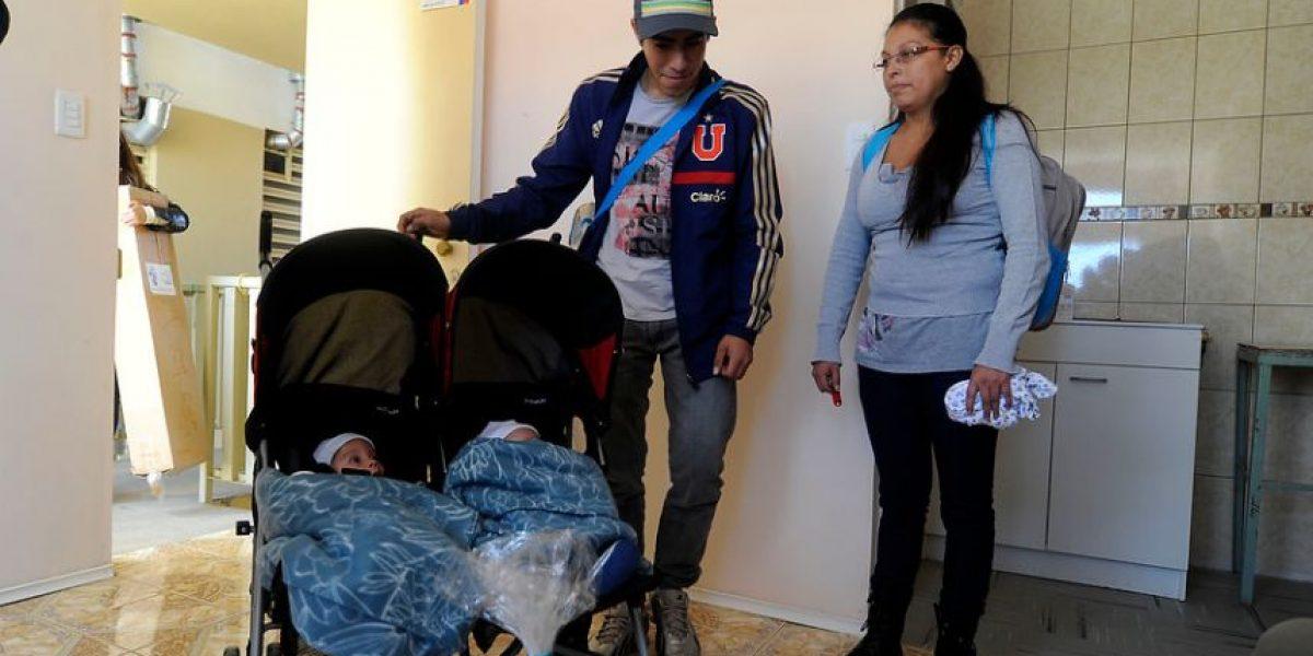 Entregan en Valparaíso una vivienda a familia de pequeños trillizos