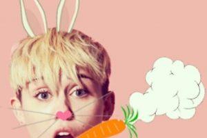 """Cyrus escribió: """"Easter X 4/20"""" enla imagen donde evoca al Conejo de Pascua Foto:Instagram. Imagen Por:"""