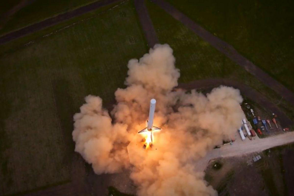 También se le conoce como F9R y es un tipo de cohete reutilizable Foto:Video Captura. Imagen Por: