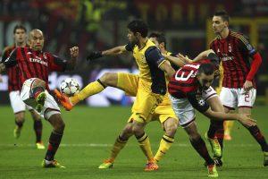 Ante los rossoneri, el Atlético dio una cátedra de buen fútbol. En la idea, en Milán, vencieron por 1-0 (foto). La vuelta en Madrid fue un carnaval: 4-1 para los pupilos de Simeone. Foto:Getty Images. Imagen Por: