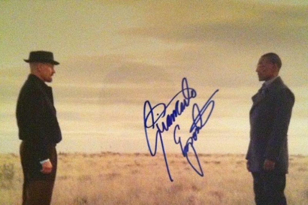 "La firma de ""Gus"" en la popular serie Breaking Bad Foto:Instagram. Imagen Por:"