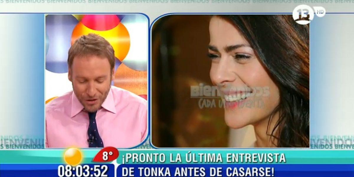 Tonka Tomicic agradeció el cariño tras su matrimonio