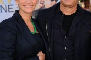 Con Tom Hanks Foto:Getty. Imagen Por: