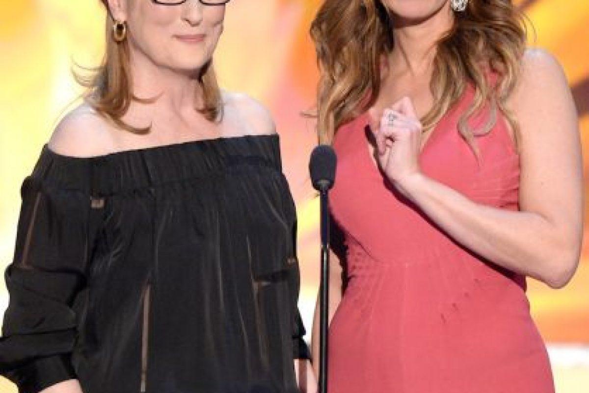 Con Meryl Streep Foto:Getty. Imagen Por: