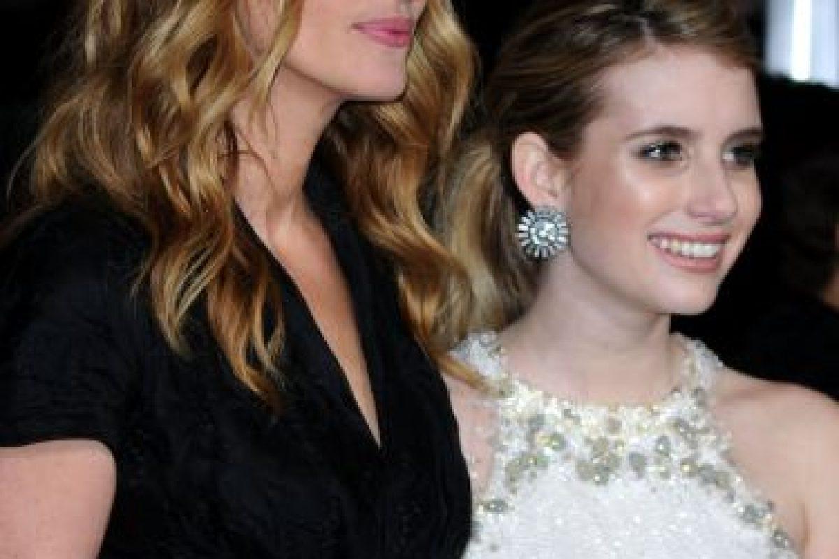 Con su sobrina, Emma Roberts Foto:Getty. Imagen Por: