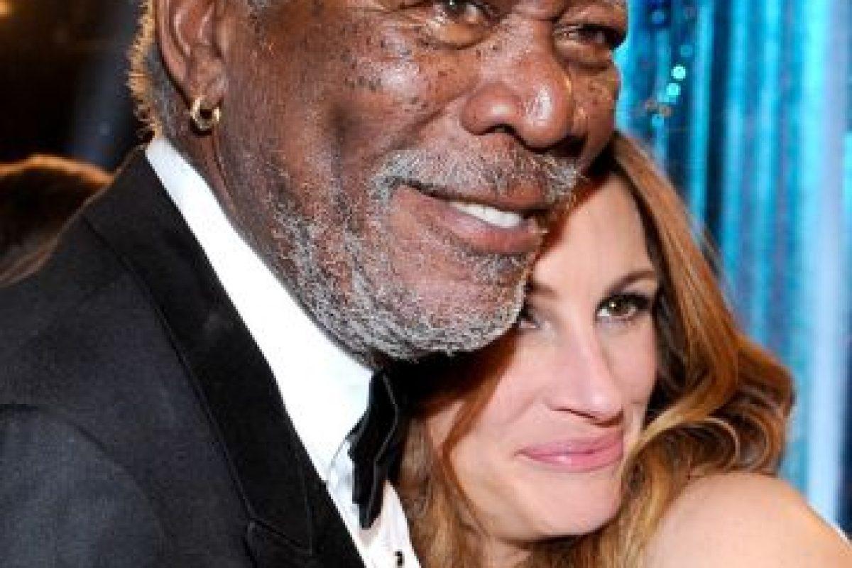 Con Morgan Freeman Foto:Getty. Imagen Por: