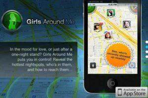 """""""Girls around me"""". Fue retirada de la App Store, pues le daba al usuario la localización exacta, con foto, de las mujeres alrededor (como en un coto de caza). Era peligrosa para ellas. Foto :Captura de pantalla. Imagen Por:"""