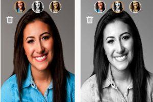 """Adelgace su selfie:Adiós a la boca de pato y a la pose boba para salir bien en las fotos. SkinneePix es una aplicación que reducirá sus particularidades y lo hará ver """"más bello"""". Foto: Captura de pantalla. Imagen Por:"""