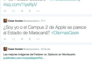 En la columna media están los tuits y las respuestas. Foto:Twitter. Imagen Por: