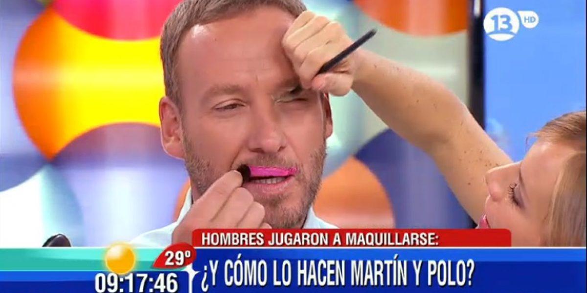 Martín Cárcamo y Polo Ramírez sacaron carcajadas maquillándose en vivo en