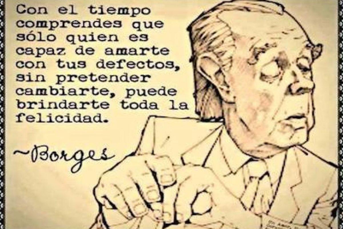 Jorge Luis Borges Foto:Tumblr. Imagen Por: