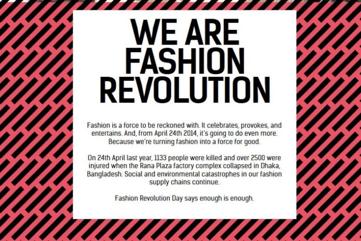 Fashion Revolution es una iniciativa mundial. Foto :Captura de pantalla. Imagen Por: