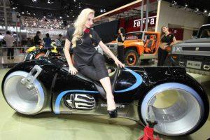 Motocicleta eléctrica G. Patton, presentado en el Auto China 2014. Imagen Por: