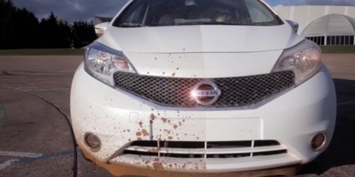 Nissan crea el auto que se auto limpia