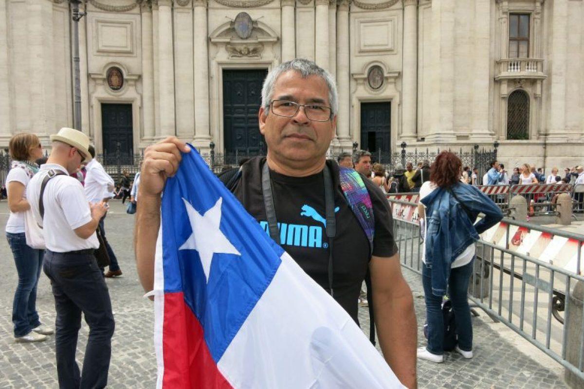 """Juan Paz, de Santiago apunta que el viaje de Chile a Roma fue un gran sacrificio, pero que """"ha valido la pena"""" Foto:Fundación Voces Católicas. Imagen Por:"""
