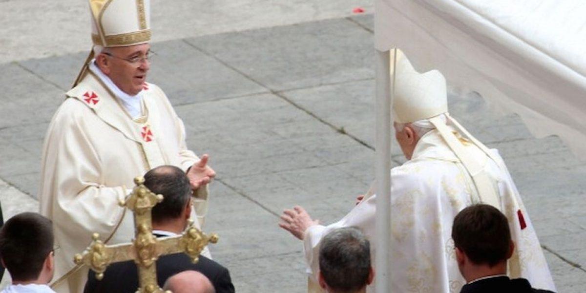 FOTOS: Este fue el afectuoso saludo entre Francisco y Benedicto XVI