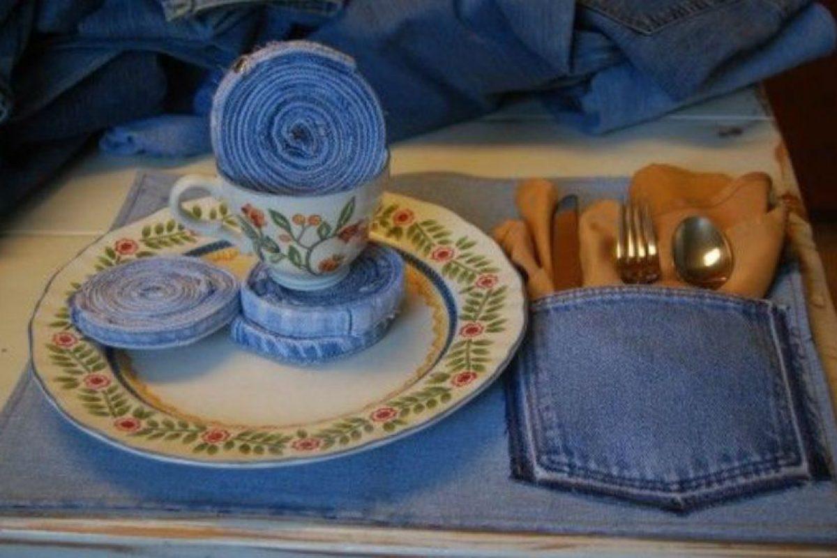 Como portavasos y para los cubiertos. Foto:Pinterest. Imagen Por: