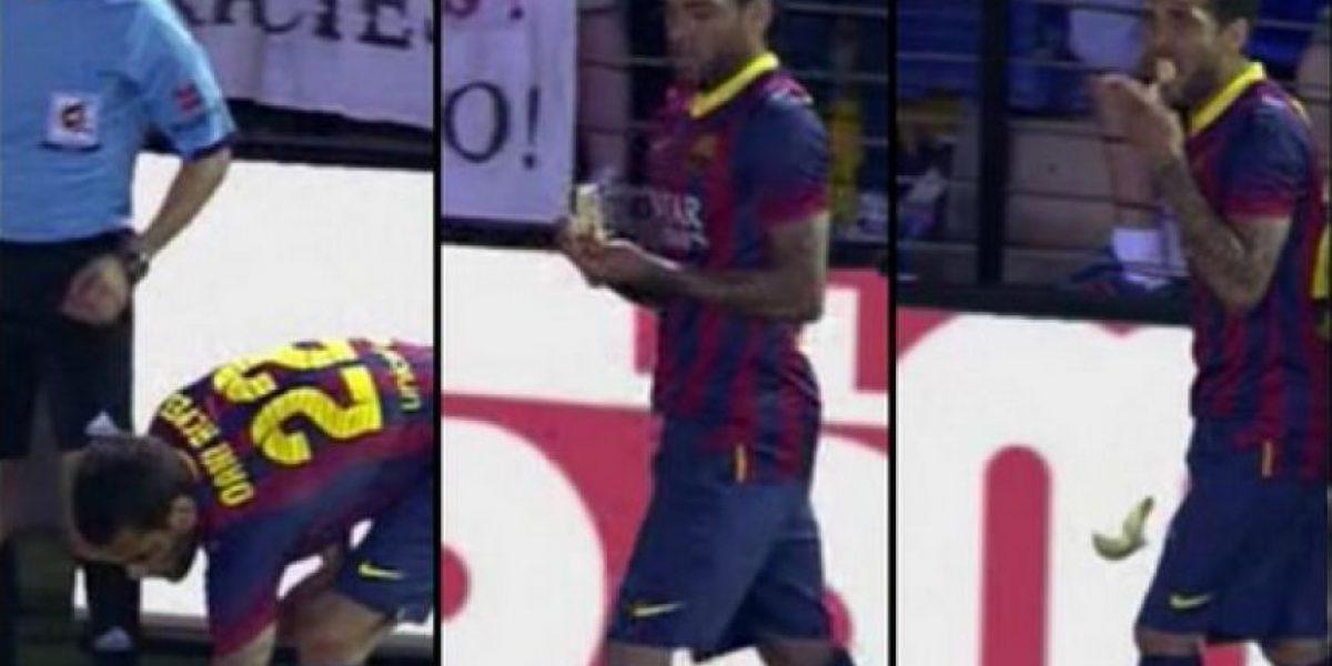 #CasoPlátano: Dani Alves y Neymar se toman con humor acto racista