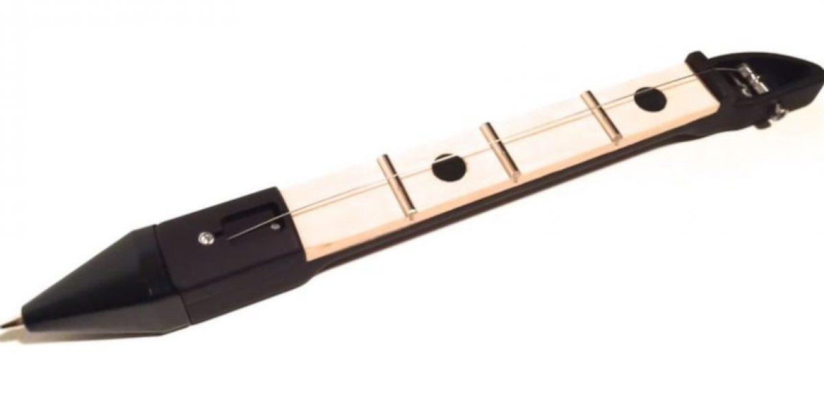 VIDEO: El increíble bolígrafo que también es una guitarra de bolsillo