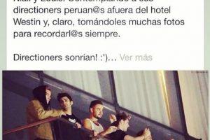 Los 1D aprovecharon para tomar fotos de sus fans de Perú Foto:Instagram. Imagen Por: