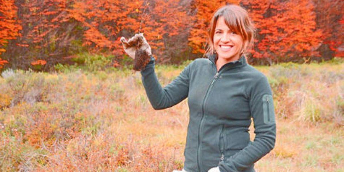 Monserrat Álvarez fue una voluntaria más en la Patagonia plantando árboles nativos