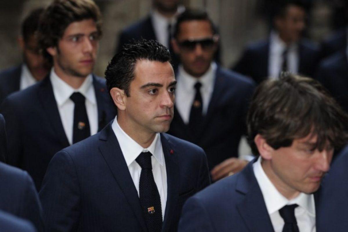 Xavi, uno de los capitanes del Barcelona. Foto:AFP. Imagen Por: