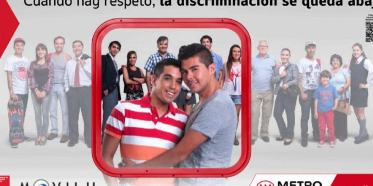 Metro de Santiago y Movilh se unen en inédita campaña contra la homofobia