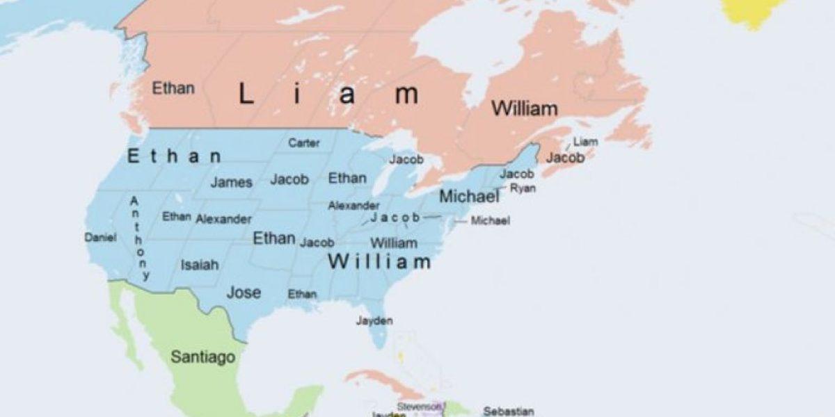 Fotos: Este mapa muestra, por país, los nombres masculinos más comunes