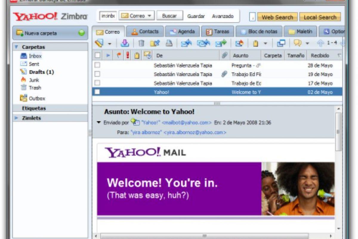 Yahoo! Mail Foto:Yahoo!. Imagen Por: