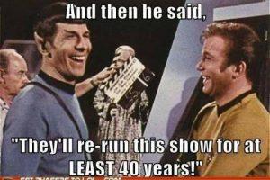 En la serie original los miembros de la tripulación que utilizaban uniformes de color rojo eran los que más morían Foto:Tumbrl. Imagen Por: