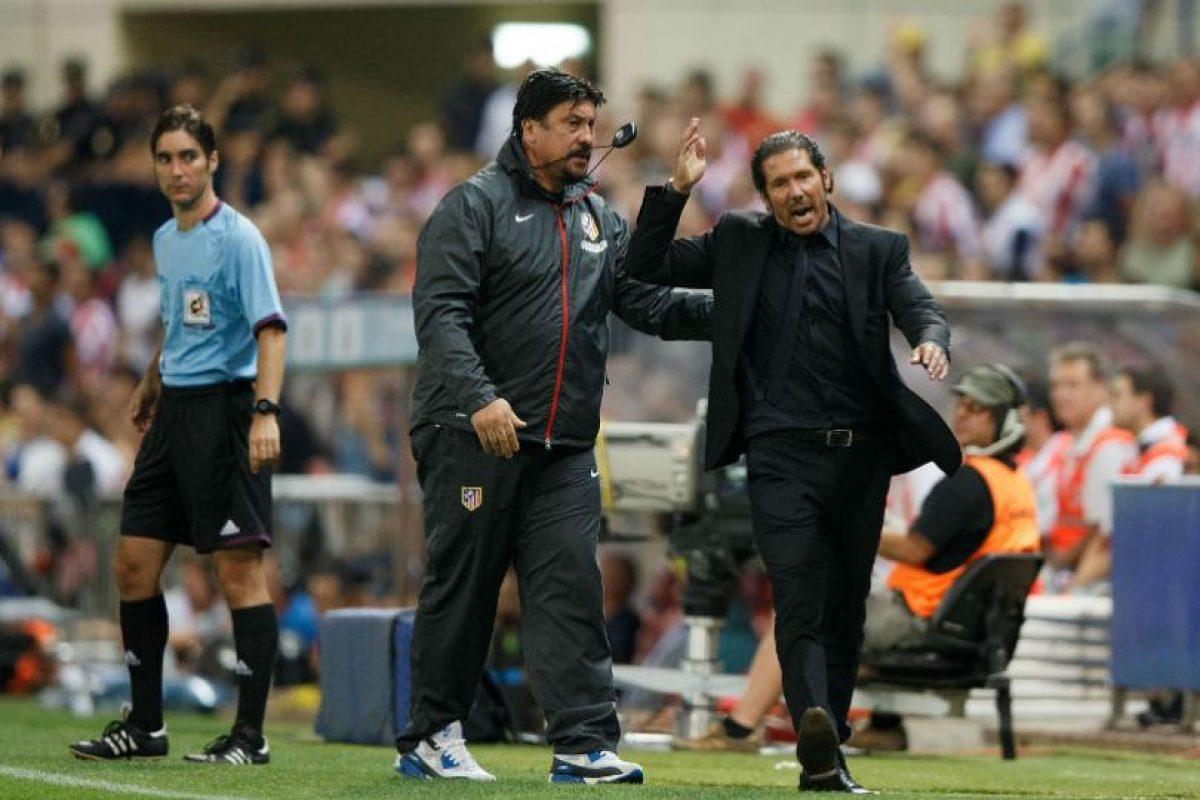 Auxiliar del DT del Atlético de Madrid, Diego Simeone Foto:Getty Images. Imagen Por: