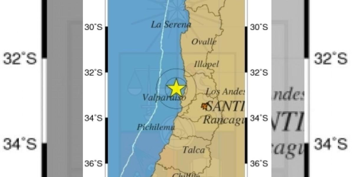 Sismo de 5.2º Richter afecta a zona central del país