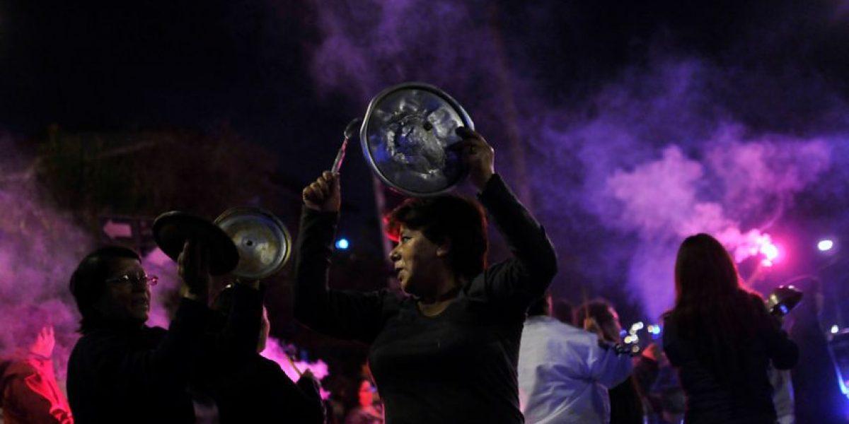 [FOTOS] Noche de protestas y