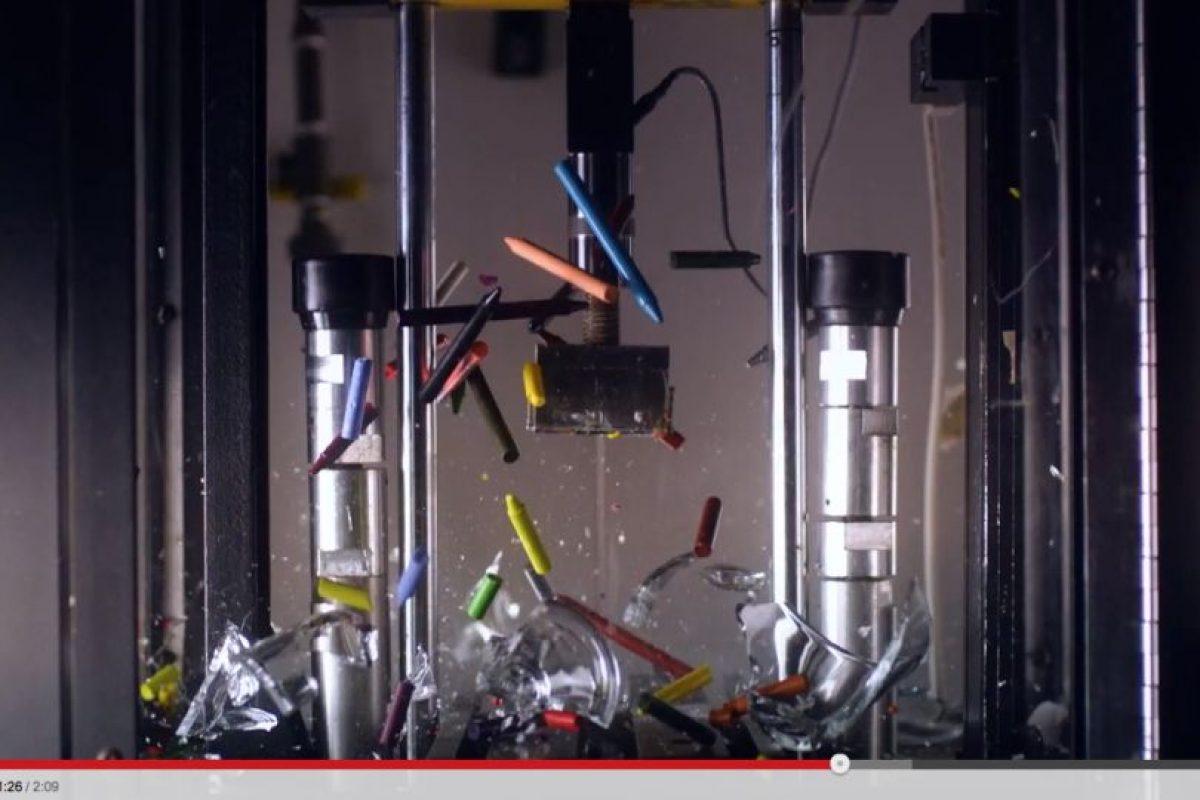 Es utilizada una máquina de alta velocidad para simular condiciones extremas Foto:YouTube Captura. Imagen Por: