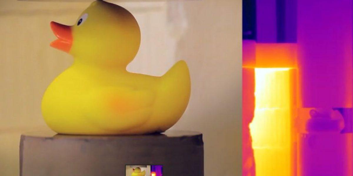 Video: La fuerza oculta de un patito de hule en una prueba de resistencia