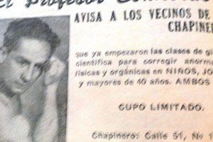 El profesor Contreras quizás fue uno de los pioneros en instaurar el negocio de la cultura física.. Imagen Por: