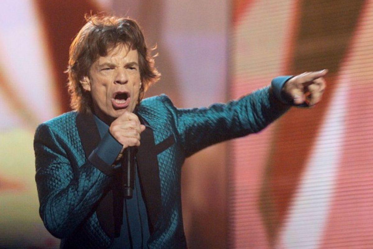 El cantante Mick Jagger, vocalsita de The Rolling Stones le fue infiel a su ex esposa Bianca Jagger, después el cantante de los Rolling Stones se casó con la modelo Jerry Hall. Foto:Getty Images. Imagen Por: