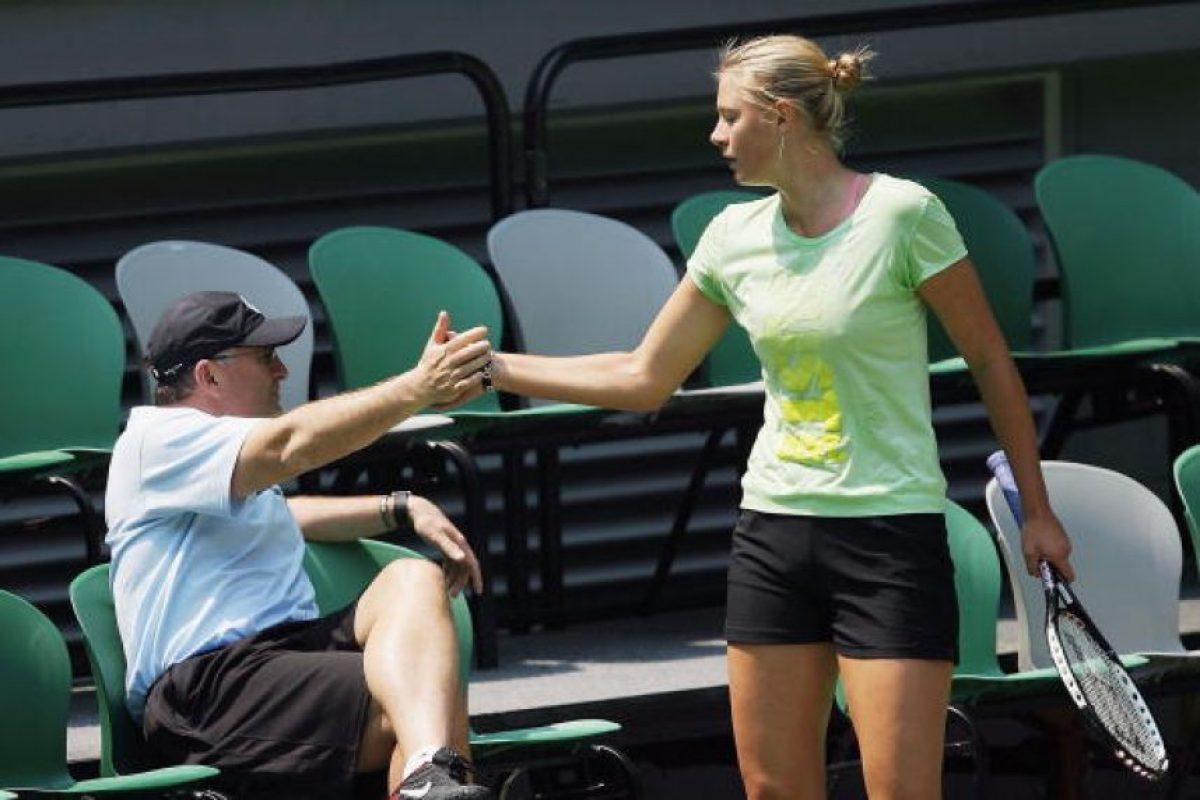 La tenista rusa Maria Sharapova y su padre Yuri Sharapova Foto:Getty Images. Imagen Por: