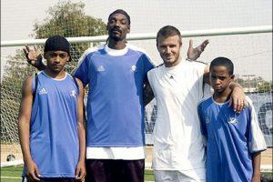10. David Beckham y Snoop Dogg fuente Foto:Usonica. Imagen Por: