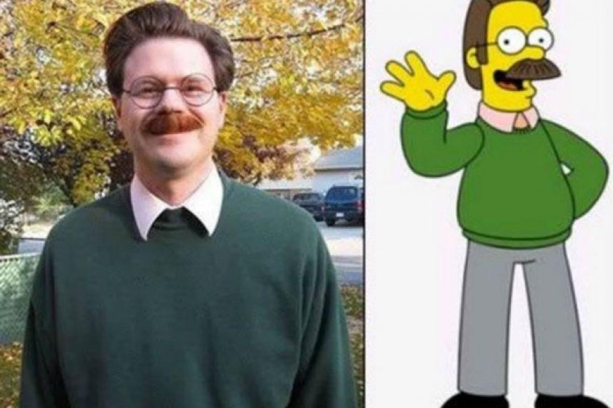Nedwards Flanders de Los Simpsons Foto:antidepresivo.net. Imagen Por: