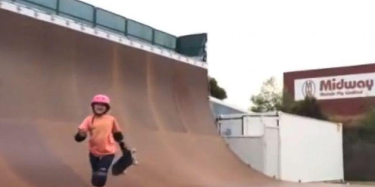 Video: La skater de 9 años que hace un triple giro en el aire