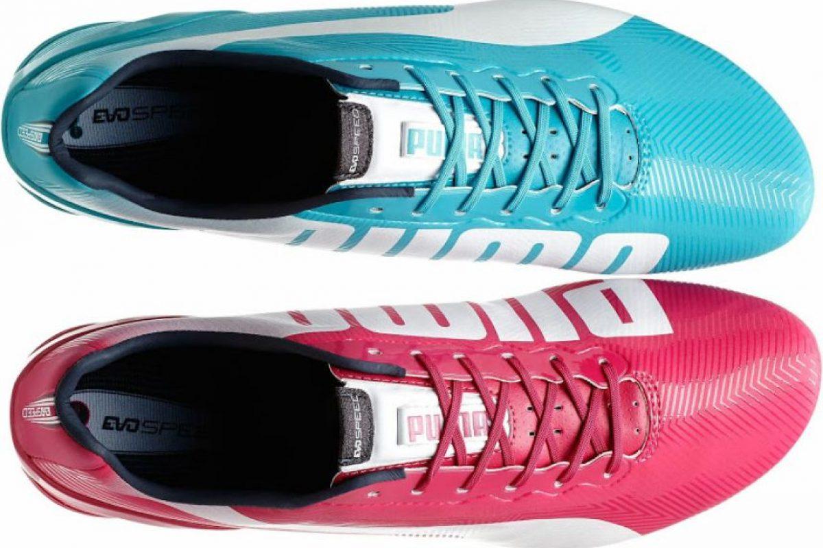puma evospeed rosa y azul