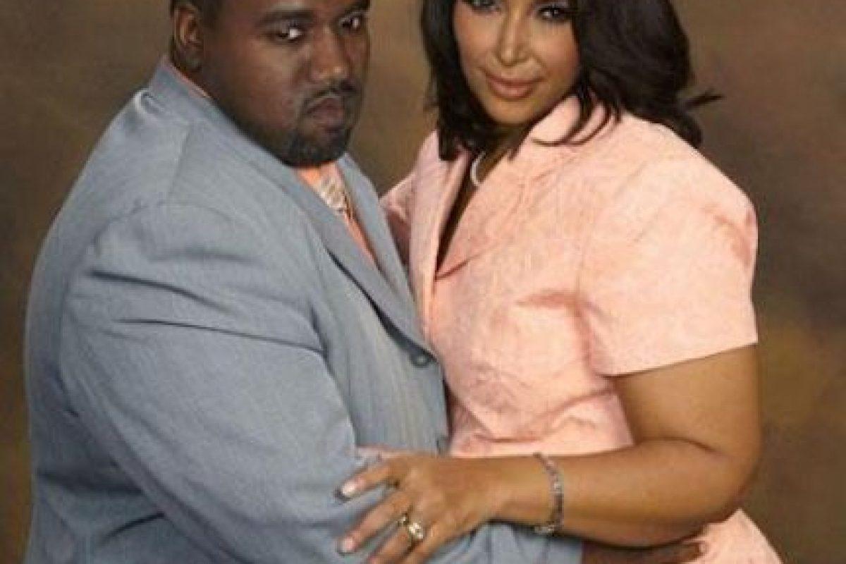 Kanye West y Kim Kardashian Foto:Facebook/Planet Hiltron. Imagen Por: