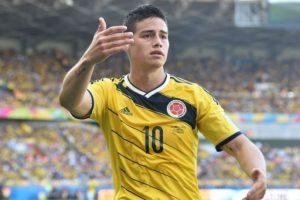 James anotó uno de los tantos para Colombia Foto:Getty. Imagen Por: