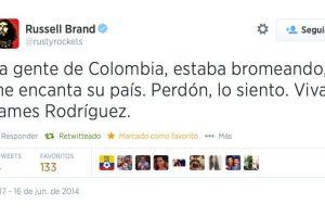 Ante la polémica presentada en Twitter el día de ayer, Russell Brand se disculpó Foto:Twitter. Imagen Por:
